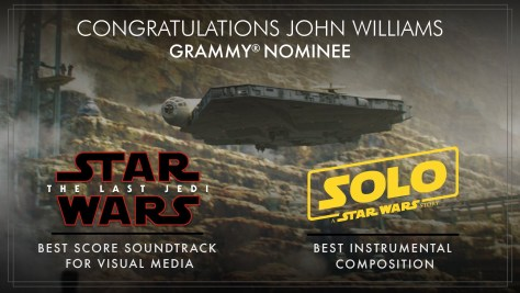 Star Wars | John Williams & John Powell Nominated for a Grammy