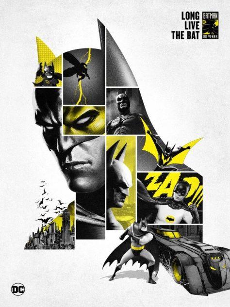 Warner Bros. Unveils New Artwork to Commemorate Batman's 80th Anniversary