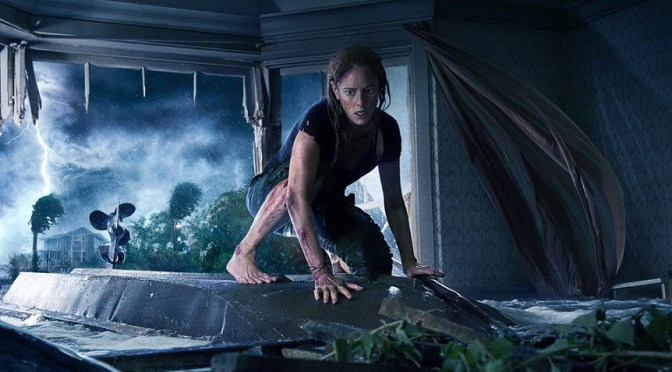 A Chilling New Poster for Sam Raimi's Crawl Reveals the Terror Lurking Beneath the Flood Water