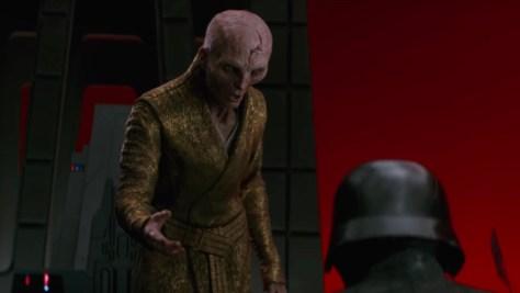 Snoke and Kylo Ren in The Last Jedi