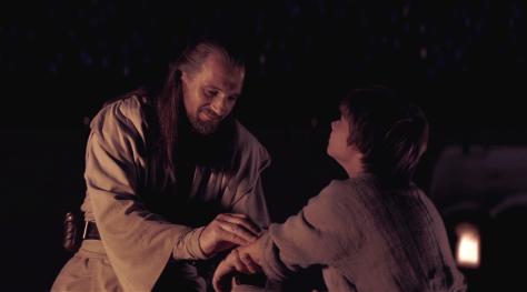 Qui-Gon Jinn tests Anakin's Midichlorian Count
