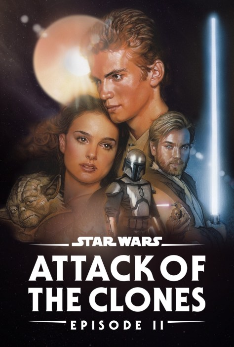 Star Wars Attack Of The Clones Disney Plus Poster