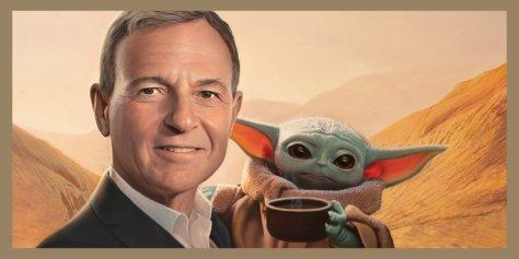 Bob Iger and Baby Yoda