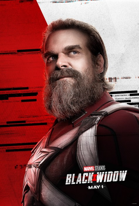 Black Widow Poster David Harbour