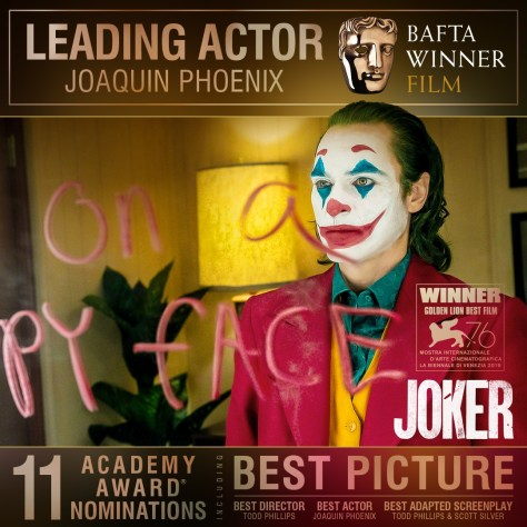 Joaquin Phoenix wins Best Leading Actor at the BAFTAS