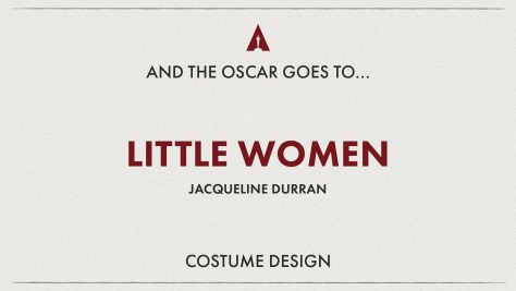 Best Costume Design: Little Women - Oscars 2020