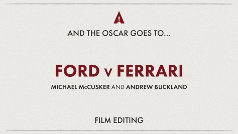 Best Sound Editing: Ford Vs Ferarri (Le Mans'66) - Oscars 2020