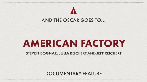 Best Documentary Feature: American Factory - Oscars 2020