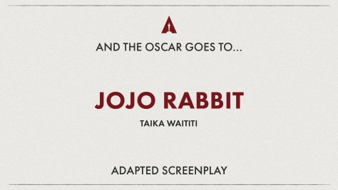 Best Adapted Screenplay: Jojo Rabbit Oscars 2020