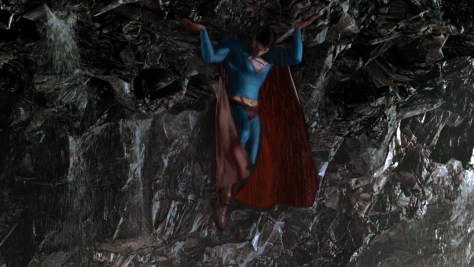 Superman Lifts the Kryptonite Landmass