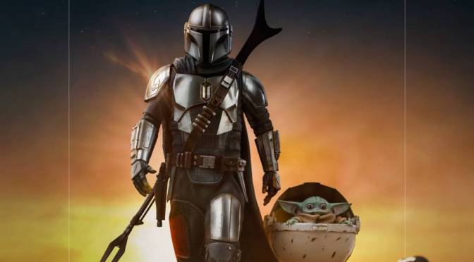The Mandalorian And Grogu Statue Coming From Iron Studios