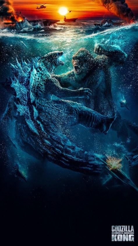 Godzilla vs Kong Textless Poster 002