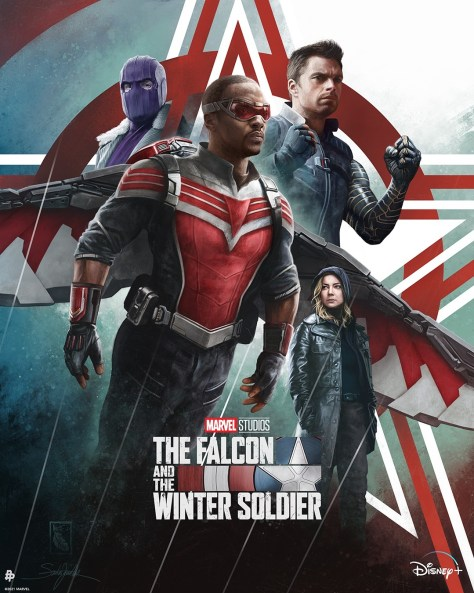 The Falcon And The Winter Soldier Character Poster - Artist Credit: @SzarkaArt