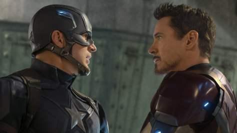Steve Rogers And Tony Stark in Civil War