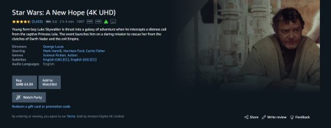 A New Hope on Prime Video