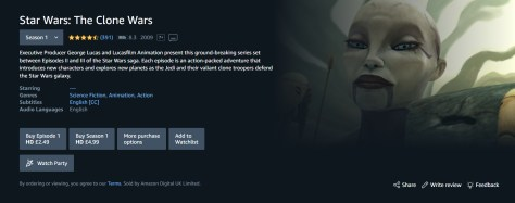 The Clone Wars on Prime Video