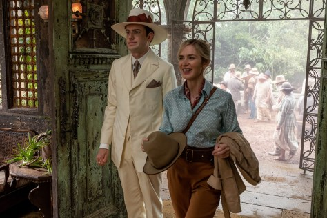 Emily Blunt and Jack Whitehall in Jungle Cruise