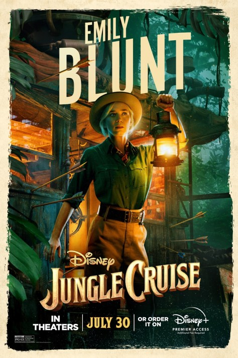 Emily Blunt Jungle Cruise Poster 2