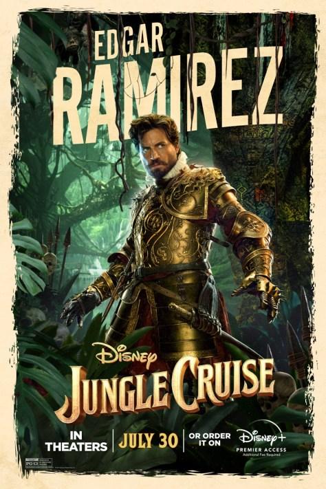 Jungle Cruise Edgar Ramirez Character Poster 2