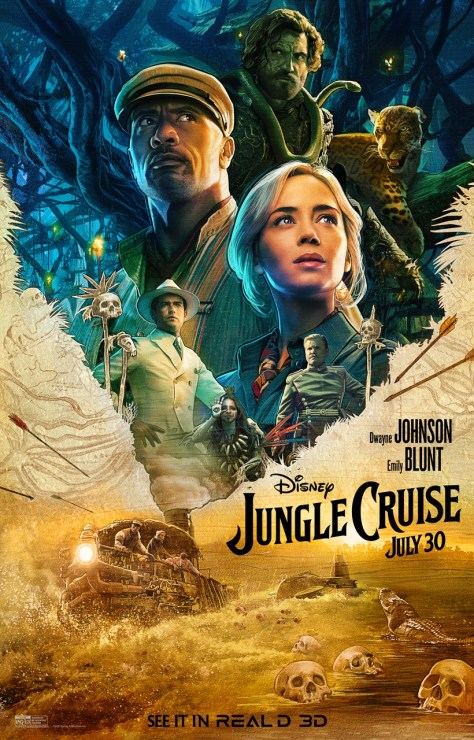 Jungle Cruise Real D 3D Poster
