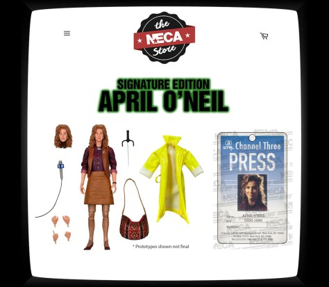 NECA TMNT April O'Neil Signature Edition