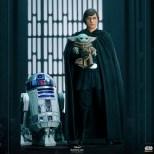 Luke Skywalker, Grogu, And R2-D2 Statue From The Mandalorian