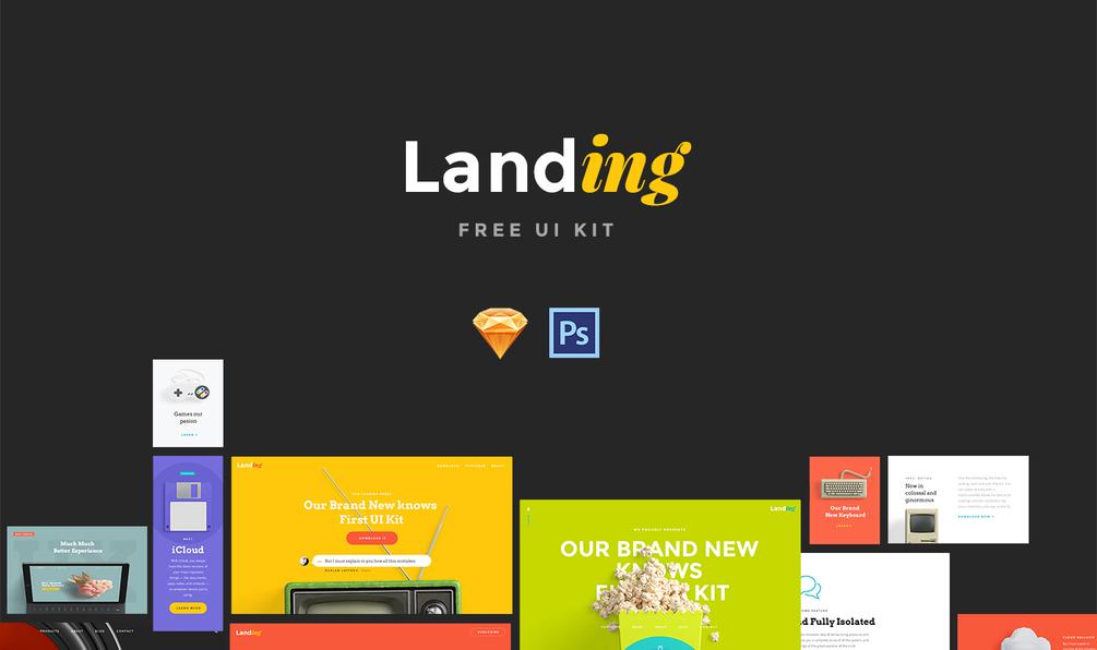 Бесплатный UI Kit для создания качественных Landing Page