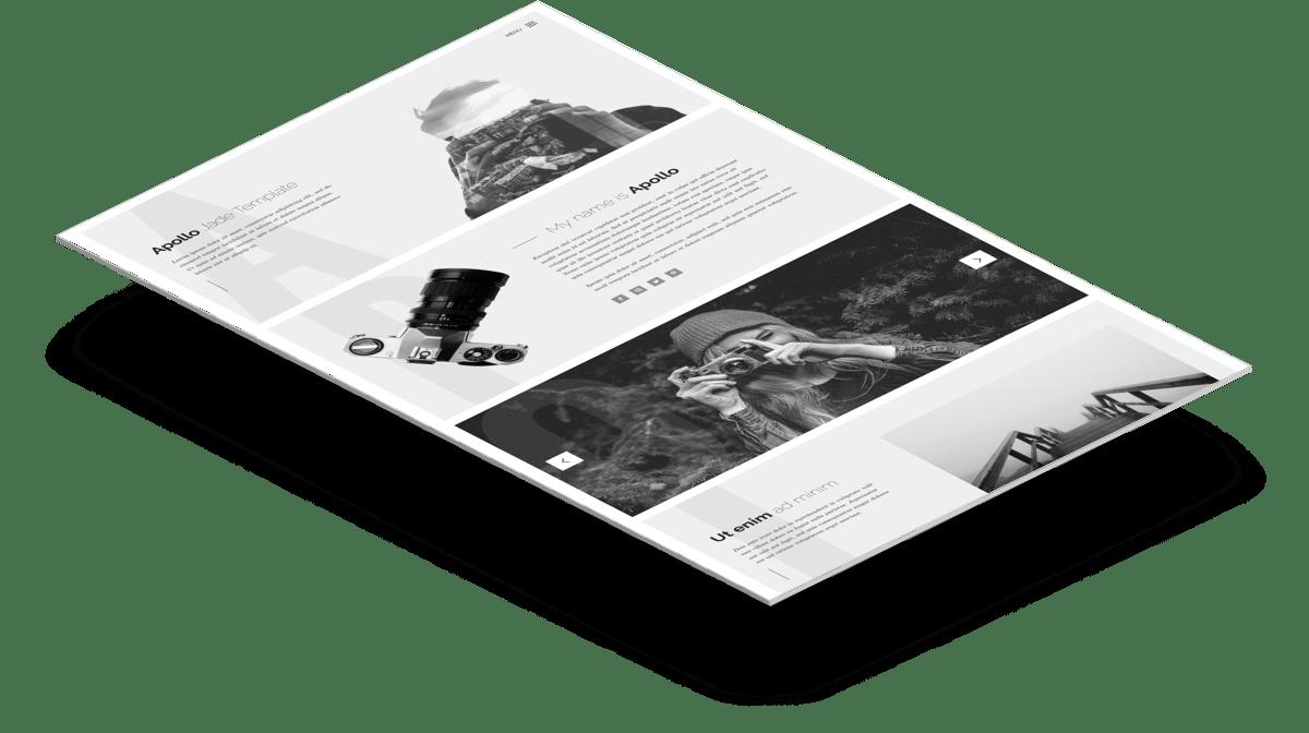 Apollo | Одностраничный HTML шаблон портфолио фотографа