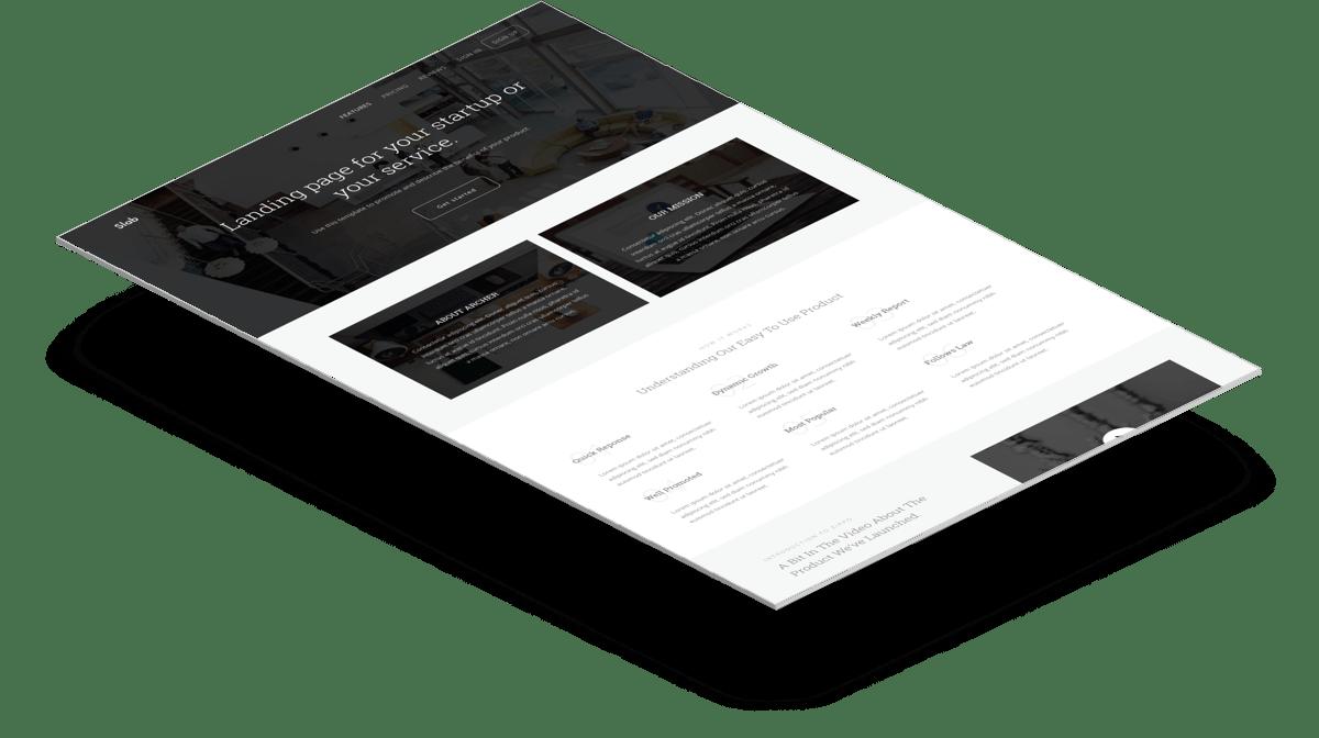 Slab | Бесплатный многоцелевой Bootstrap шаблон