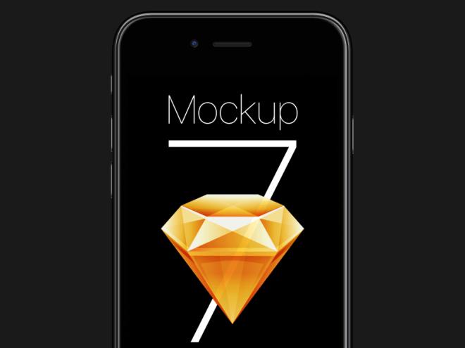 Free iPhone 7 Sketch Mockup