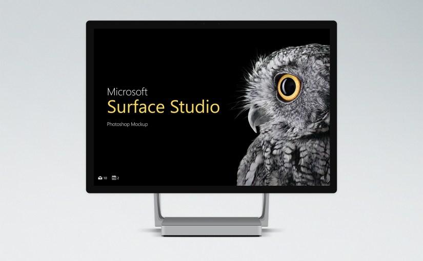 🖥 Бесплатные PSD Mockups Microsoft Surface Studio
