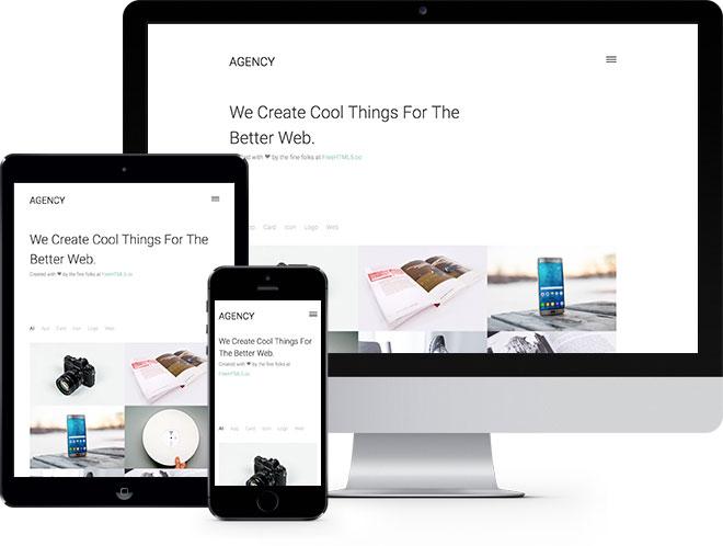Agency | Бесплатный шаблон веб-сайта построенный с помощью Bootstrap