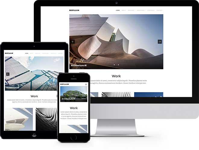 Beryllium | Бесплатный HTML5 шаблон сайта портфолио архитектора