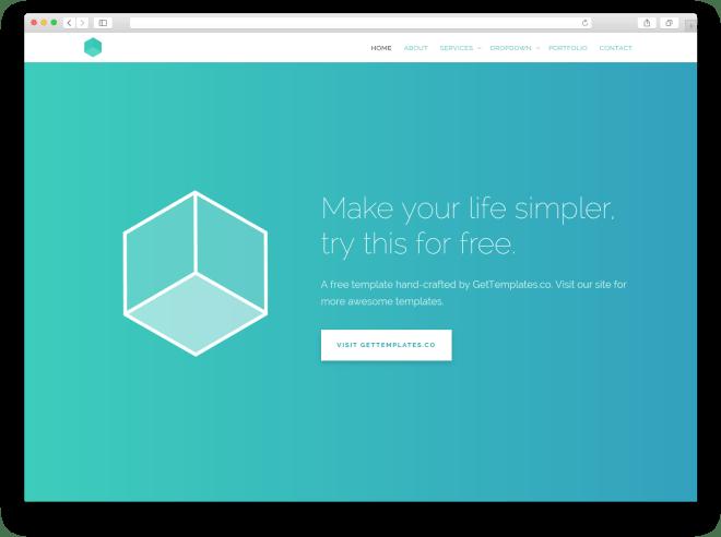 Cube | Бесплатный шаблон веб-сайта для бизнеса построенный на Bootstrap