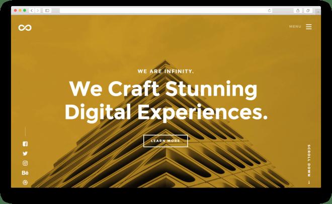 Infinity | Бесплатный высококачественный шаблон веб-сайта