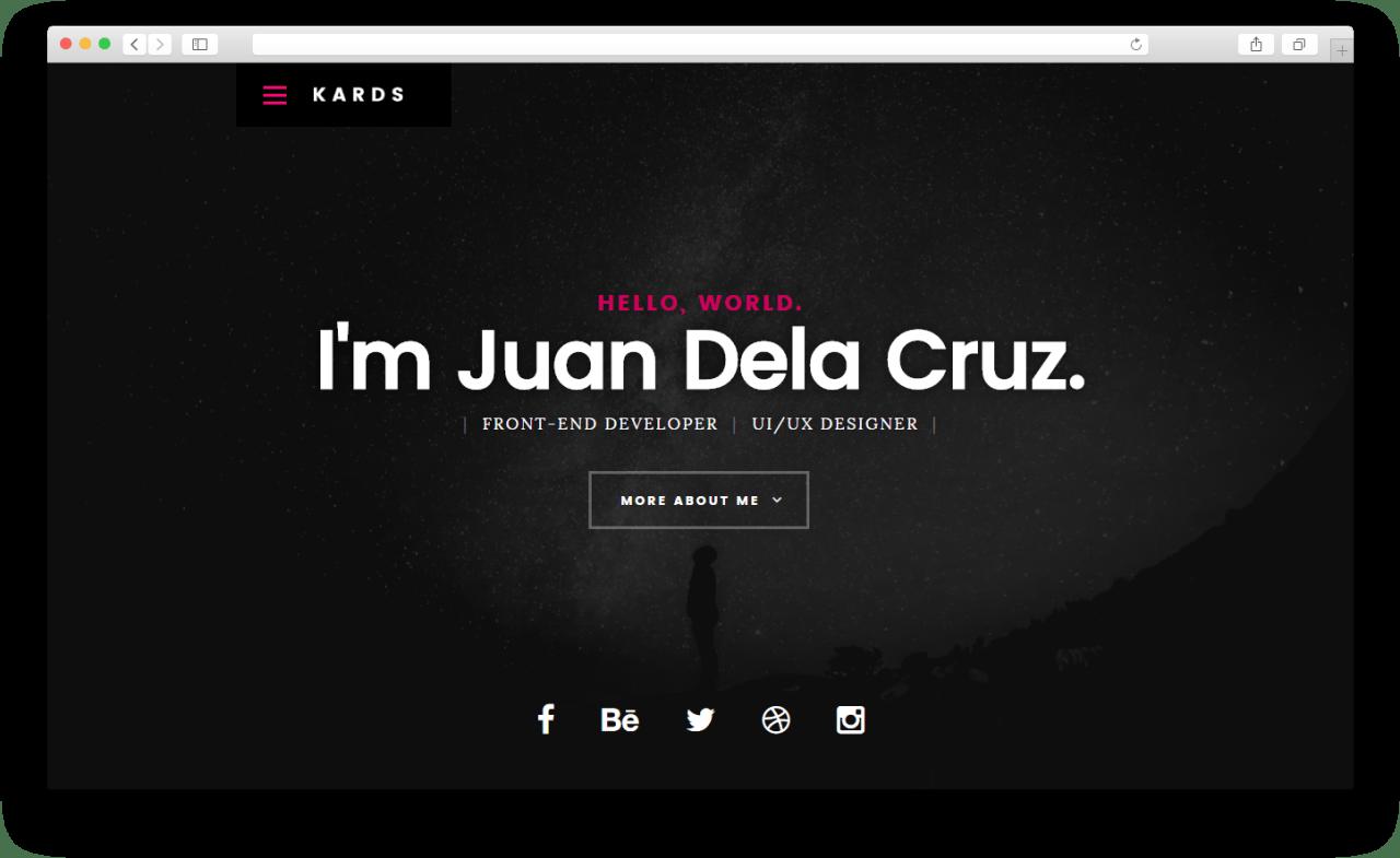 Kards | Бесплатный высококачественный шаблон веб-сайта