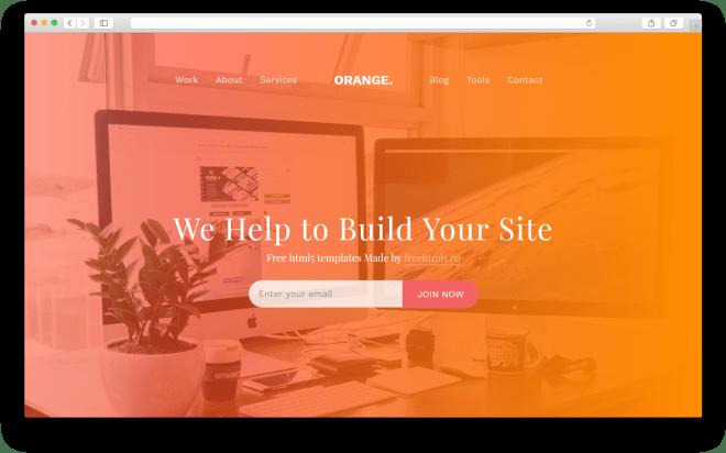 Orange | Бесплатный многоцелевой HTML5 шаблон сделанный на Bootstrap