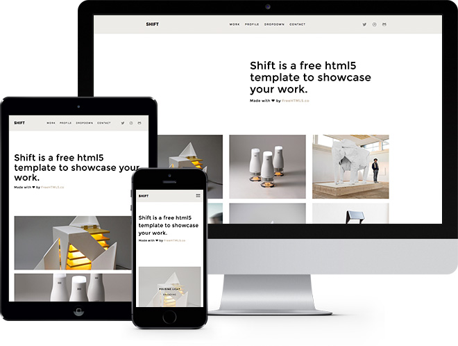 Shift | HTML5 шаблон сайта для портфолио созданный на Bootstrap