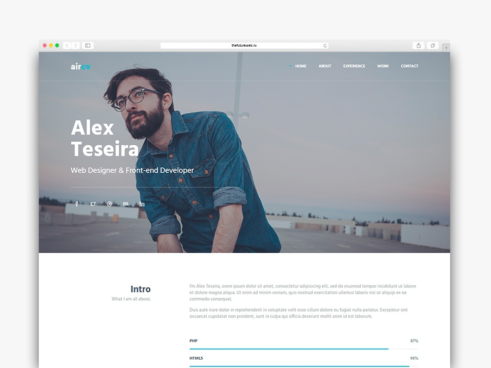 Aircv Frontend Freebie HTML and Bootstrap
