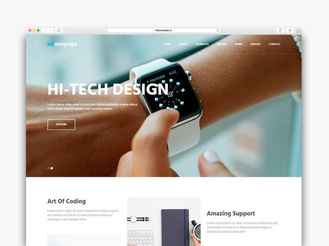 Aitonepage Frontend Freebie HTML and Bootstrap