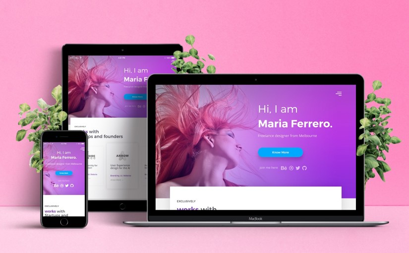 13 Best Free HTML and Bootstrap Templates Portfolio Website in The First Quarter of 2017