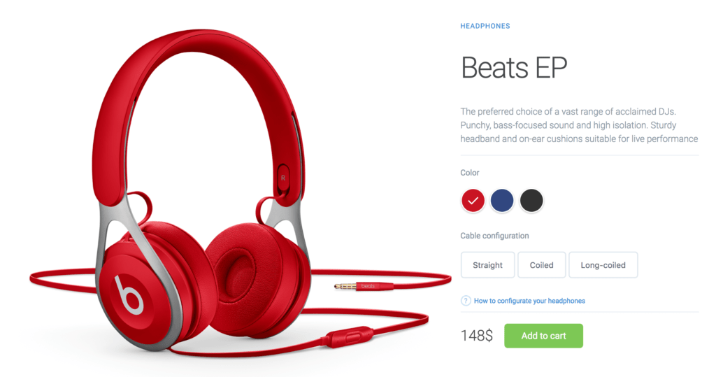 Product Page with Interactive Colors in HTML, CSS3 & jQuery