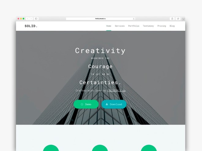 Solid One Page Free HTML5 Bootstrap Template Multi Purpose