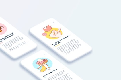 Free minimalist phone mockups for Sketch (v. Light)