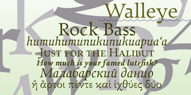 Walleye бесплатный шрифт от Chuck Masterson
