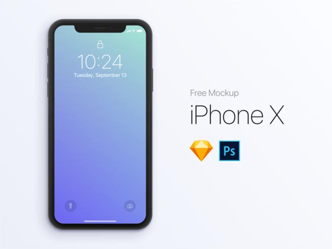 Бесплатный MockupiPhone X для Sketch и Photoshop