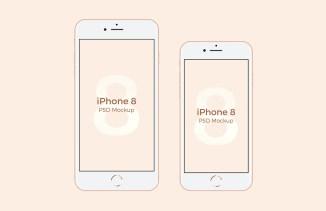 Бесплатные PSD мокапы iPhone X, iPhone 8 и iPhone 8 Plus