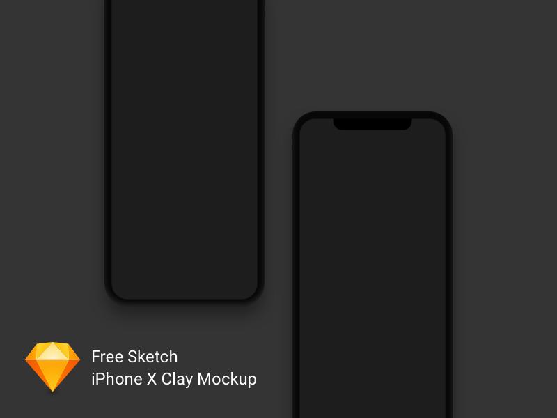 iPhone X Clay Mockup Freebie for Sketch