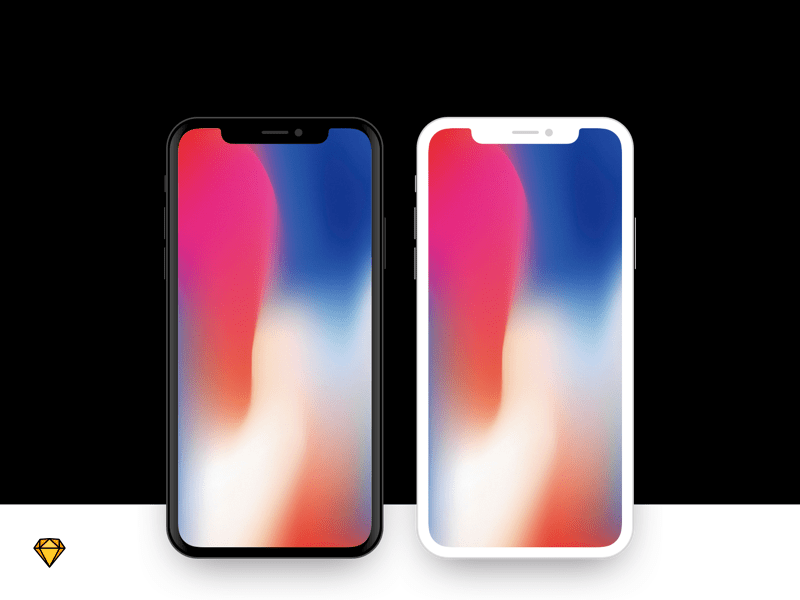iPhone X - Flat Device Mockup