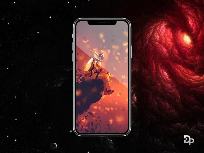 PSD макет iPhone X, бесплатно!